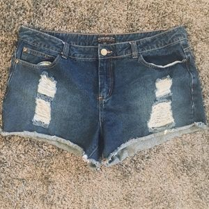 Forever 21 Plus Size Denim Shorts 14